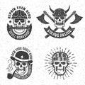 Vintage skull emblems