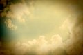 Vintage sky on a sunny day Royalty Free Stock Images