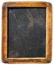 Vintage slake blackboard isolated on white Royalty Free Stock Photo