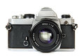 Vintage SLR camera Royalty Free Stock Photo
