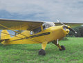 Vintage small private aircraft. Royalty Free Stock Photo