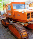 A vintage snow-cat used on the railways in northern canada