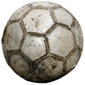 Vintage soccer ball used cracked grungy texture Royalty Free Stock Image