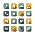 Vintage social media icons set vector illustration Royalty Free Stock Photo