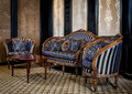 Vintage sofa and armchairs Royalty Free Stock Photo