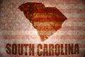 Vintage south carolina map Royalty Free Stock Photo