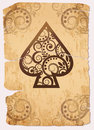 Vintage Spade´s ace poker playing cards Stock Images