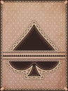 Vintage spades poker card vector illustration Royalty Free Stock Photo