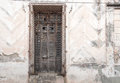 Vintage Spanish colonial doors and windows in Camaguey, Cuba. Unesco World Heritage Site Royalty Free Stock Photo