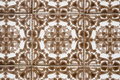 Vintage spanish style ceramic tiles Royalty Free Stock Photos