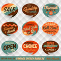 Vintage speech bubbles cards style Royalty Free Stock Image