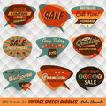 Vintage speech bubbles cards style Royalty Free Stock Photos