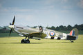Vintage Spitfire fighter aircraft Royalty Free Stock Photo