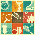 Vintage sport symbols sports in style of a retro Royalty Free Stock Image