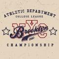 Vintage Sport Wear New York T-shirt Design, Athletics Typography