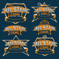 vintage sports all star crests with soccer theme