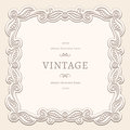 Vintage square frame background swirly ornamental Stock Photography