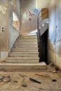 Vintage staircase and dirty floor Stock Images