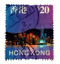 Vintage Stamp, Hong Kong Royalty Free Stock Photo