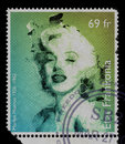Vintage stamp Marilyn Monroe Royalty Free Stock Photo