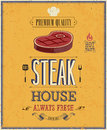 Vintage steak house poster vector illustration Stock Photography
