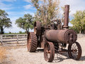 Vintage steam tractor Royalty Free Stock Photo