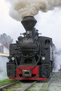 Vintage steam train locomotive Royalty Free Stock Photo