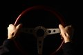 Vintage steering wheel Royalty Free Stock Photo