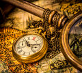 Antique pocket watch. Royalty Free Stock Photo
