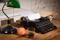 Vintage still life with typewriter old Stock Photography