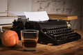 Vintage still life with typewriter old Royalty Free Stock Photography