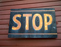 Vintage Stop Sign Stock Photo