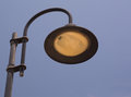 Vintage streetlamp and blue sky in art nouveau or art deco design Royalty Free Stock Images