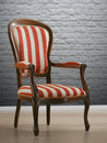 Vintage stripey chair Royalty Free Stock Photo