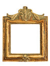 Vintage style antique golden frame isolated on white background Royalty Free Stock Images