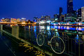 Vintage style bicycle in Melbourne Royalty Free Stock Photo
