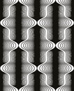 Vintage style black and white seamless pattern, vector geometric