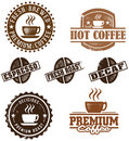 Vintage Style Coffee Stamps Royalty Free Stock Photography