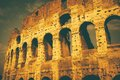 Vintage style colosseum the in rome italy done in an old film Royalty Free Stock Photos