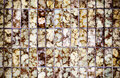 Vintage style design of brown mosaic tile texture Royalty Free Stock Photo