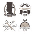 Vintage style design hipster gentleman vector illustration badge black silhouette element.