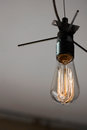 Vintage Style Edison Light Bulb Royalty Free Stock Photo
