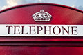 Vintage style english phone booth Stock Photos