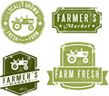 Vintage Style Farmers Market Stamps Royalty Free Stock Photography
