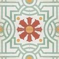 Vintage style floor tile pattern texture Royalty Free Stock Photo