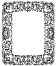 Vintage style floral frame Royalty Free Stock Photo