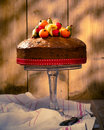 Vintage Style Fruit Cake Stock Photo