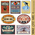 Vintage style label Stock Photos