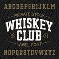 Vintage style label font with sample design