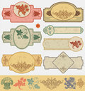 Vintage style labels Royalty Free Stock Photography